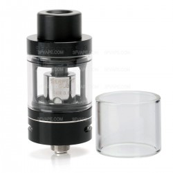 Authentic Wotofo Serpent Sub Ohm Tank Atomizer - Black, Stainless Steel, 3.5ml, 22mm Diameter