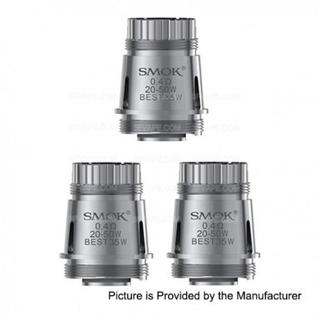 Authentic SMOKTech SMOK Brit Sub B2 Core Coil Heads - Silver, 0.4 Ohm (20~50W) (3 PCS)