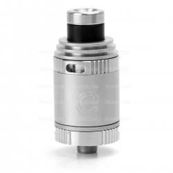 Charm Style RDA Rebuildable Dripping Atomizer - Silver, 304 Stainless Steel, 21mm Diameter