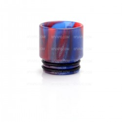 Resin Drip Tip for SMOK TFV8 Cloud Beast Atomizer / Wide Bore Goon RDA / Kennedy 24 - Blue + Red, 16mm