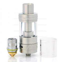 Authentic Uwell Crown II V2 Sub Ohm Tank Atomizer - Silver, Stainless Steel, 4ml, 24mm Diameter