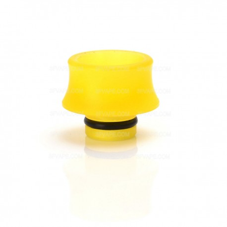 Wide Bore 510 Drip Tip for E-cigarette Atomizers - Yellow, Acrylic, 13mm