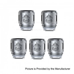 Authentic SMOKTech SMOK TFV8 Baby-T6 Coil Head - Silver, Stainless Steel, 0.2 Ohm (5 PCS)