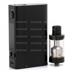 Authentic Joyetech eVic VTC Dual TC VW Box Mod Kit w/ ULTIMO Atomizer - Black, 1~150W, 2 x 18650, 4ml, 22mm Diameter