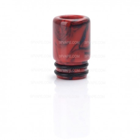 510 Drip Tip for E-cigarettes Atomizer - Black + Red, Resin, 16mm