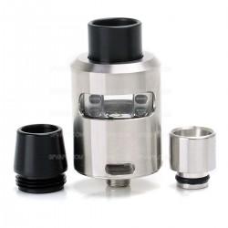 Authentic Geekvape Tsunami Plus RDA Atomizer w/ Glass Window - Silver, Stainless Steel, 24mm Diameter