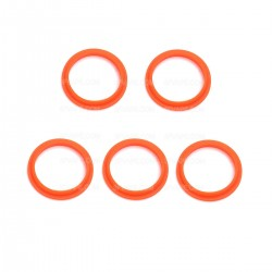 Authentic SMOKTech SMOK TFV8 Baby Bottom Sealing O-Rings - Orange, Silicone (5 PCS)
