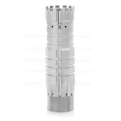 The Predator Style Mechanical Mod - Silver, Brass, 1 x 18650