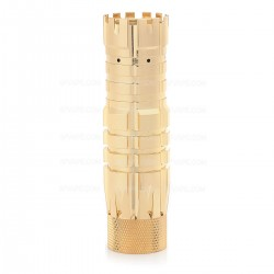 The Predator Style Mechanical Mod - Golden, Brass, 1 x 18650