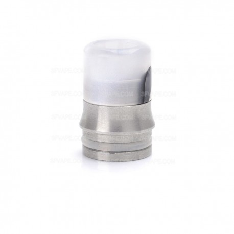 Stainless Steel + Acrylic Drip Tip for SMOK TFV8 Cloud Beast Atomizer / Wide Bore Goon RDA - Silver + Black + Grey, 20mm