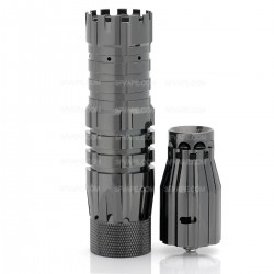 The Predator Style Mechanical Mod + Battle Style RDA Atomizer Kit - Gun Color, Brass + Stainless Steel, 1 x 18650
