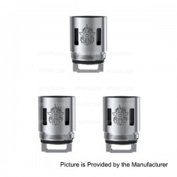 Authentic SMOKTech SMOK TFV8-T10 Coil Head for TFV8 CLOUD BEAST Tank - Silver, Stainless Steel, 0.12 Ohm (3 PCS)