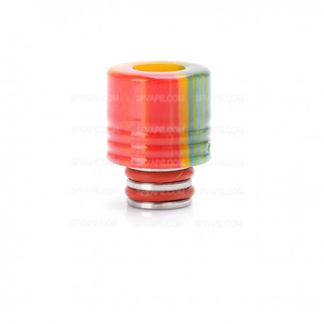 510 Drip Tip for E-cigarettes Atomizer - Red + Yellow + Green, Epoxy Resin, 18mm