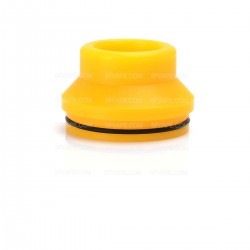 Replacement Wide Bore Drip Tip / Top Cap for 24mm RDA / 24mm Goon RDA - Yellow, Plastic, 15.5mm
