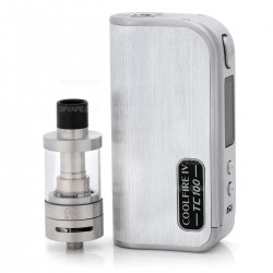 Authentic Innokin CoolFire4 IV TC100 3300mAh VW Mod + iSub V Clearomizer Starter Kit - Brushed Silver, 6~100W, 3ml