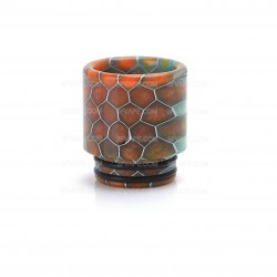 "Snake Skin Pattern Resin Drip Tip for SMOK TFV12 / TFV8 / TFV8 Big Baby / 1/2"" Goon / Kennedy / Battle RDA - Random Color, 16mm"