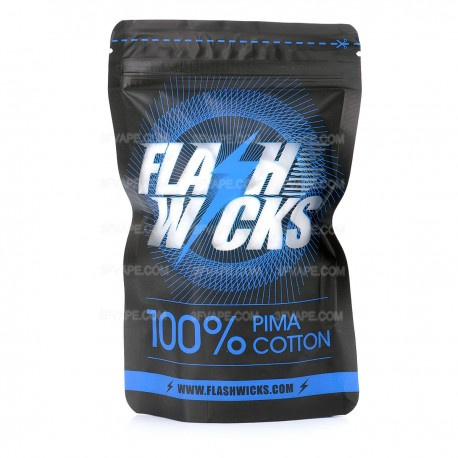 Authentic FLASHWICKS Flash Wicks for RBA / RDA / RTA Rebuildable Atomizer - Pima Cotton