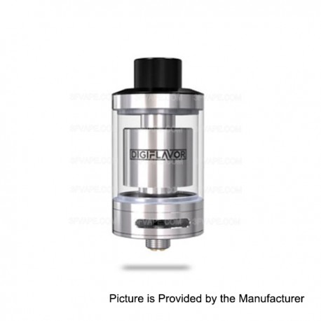 Authentic DigiFlavor Fuji Son GTA Rebuildable Tank Atomizer - Silver, Stainless Steel + Glass, 4mL, 25mm Diameter