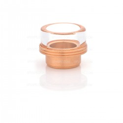 "Wide Bore Drip Tip for 1/2"" Goon / Kennedy / Battle RDA - Copper, Copper + Glass, 13.5mm"