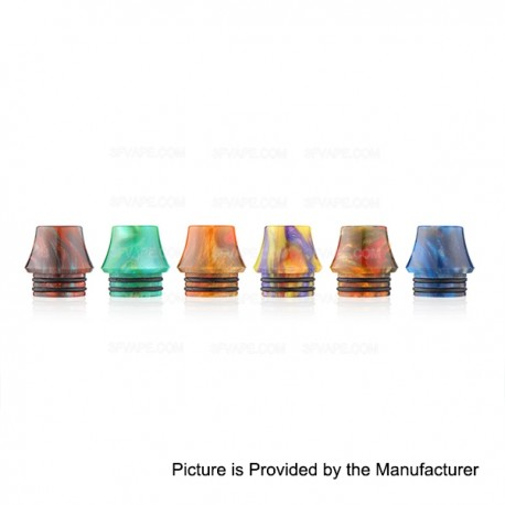 Replacement Drip Tip for Council of Vapor Vengeance Atomizer - Random Color, Epoxy Resin, 14mm