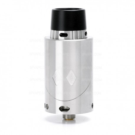 EX Style RDA Rebuildable Dripping Atomizer - Silver, Stainless Steel, 25mm Diameter