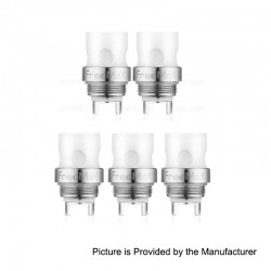 Authentic FreeMax Starre Pure Tank Replacement CCC Ceramic Cover Coil Heads - 0.5 Ohm (20~50W) (5 PCS)