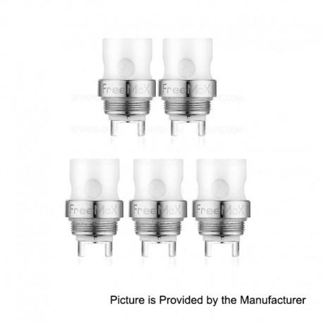 Authentic FreeMax Starre Pure Tank Replacement CCC Ceramic Cover Coil Heads - 0.25 Ohm (20~70W) (5 PCS)
