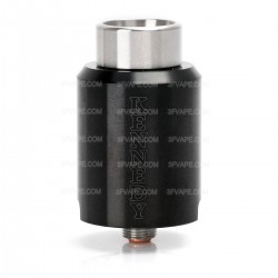Kennedy Trickster 24S Style RDA Rebuildable Dripping Atomizer w/ Glass Tank - Black, Stainless Steel, 24mm Diameter