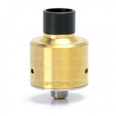 Hadaly Style RDA Rebuildable Dripping Atomizer - Golden, Stainless Steel, 22mm Diameter