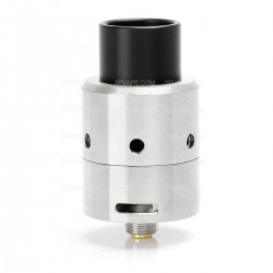 Velocity V3 Style RDA Rebuildable Dripping Atomizer - Silver, Stainless Steel, 24mm Diameter