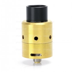 Velocity V3 Style RDA Rebuildable Dripping Atomizer - Golden, Stainless Steel, 24mm Diameter