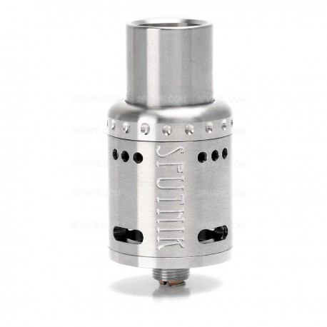 Sputnik Style RDA Rebuildable Dripping Atomizer - Silver, Stainless Steel, 22mm Diameter