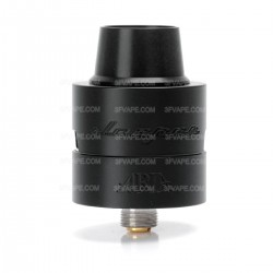 Sleeper Style RDA Rebuildable Dripping Atomizer - Black, Stainless Steel, 24mm Diameter