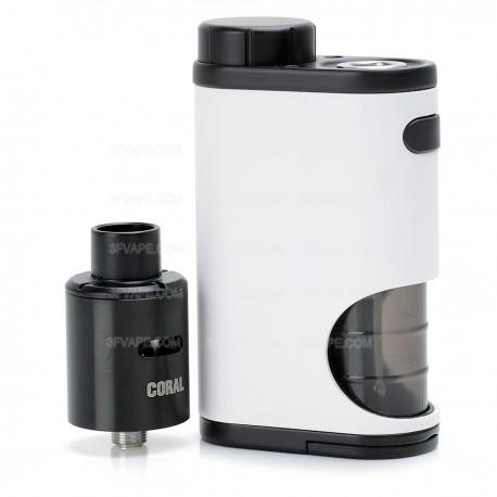 Authentic Eleaf Pico Squeeze 50W Mod Kit w/ Coral RDA Atomizer - White, 6.5ml, 1 x 18650, 22mm Diameter