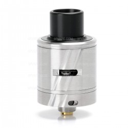 SXK CT-1 CT-One Style RDA Rebuildable Dripping Atomizer - Silver, 316 Stainless Steel, 22mm Diameter