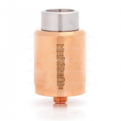SXK Kennedy Trickster 24 Style Dual-pole RDA Rebuildable Dripping Atomizer - Copper, Copper, 24mm Diameter