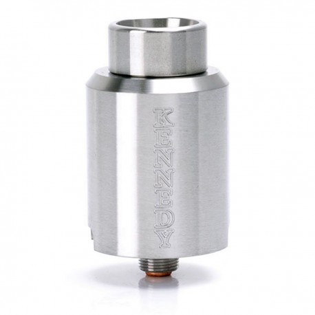 Kennedy Trickster 24S Style RDA Rebuildable Dripping Atomizer w/ Glass Tank - Silver, Stainless Steel, 24mm Diameter