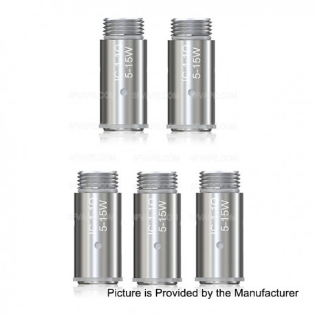 Authentic Eleaf Replacement IC Coil Head for iCare / iCare Mini / ASTER Total - Silver, 1.1 Ohm (5~15W) (5 PCS)