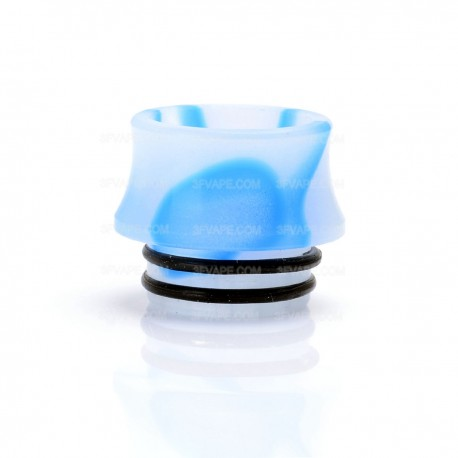 Replacement Honeycomb Drip Tip for Council of Vapor Vengeance Atomizer - Blue + White, Acrylic, 16mm