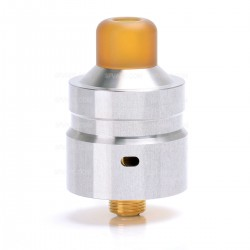 Authentic Hellvape Mostwanted RDA Rebuildable Dripping Atomizer - Mirror Silver, 316 Stainless Steel, 22mm Diameter