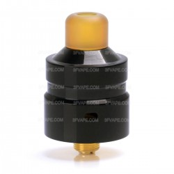 Authentic Hellvape Mostwanted RDA Rebuildable Dripping Atomizer - Black, 316 Stainless Steel, 22mm Diameter