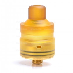 Authentic Hellvape Mostwanted RDA Rebuildable Dripping Atomizer - Brown, 316 Stainless Steel + PEI, 22mm Diameter