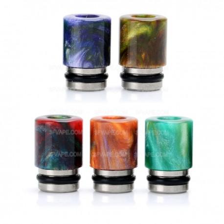 Universal 510 Drip Tip - Random Color, Resin + Stainless Steel, 15mm