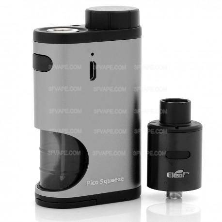 Authentic Eleaf Pico Squeeze 50W Mod Kit w/ Coral RDA Atomizer - Grey, 6.5ml, 1 x 18650, 22mm Diameter