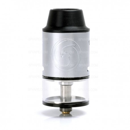 Authentic Aimidi Stargate RDTA Rebuildable Dripping Tank Atomizer - Silver, Stainless Steel + Glass, 6.2mL, 25mm Diameter