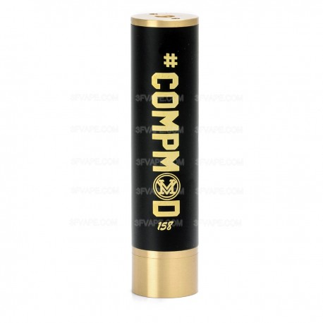 Spartan V2 Style Mechanical Mod - Brass, Black, 1 x 18650