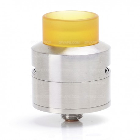 Goon LP Style RDA Rebuildable Dripping Atomizer w/ Bottom Feeder Pin - Silver, Stainless Steel, 24mm Diameter