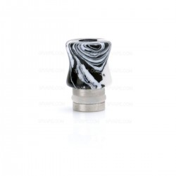 510 Drip Tip for RBA / RTA / Clearomizer - Black + White, Turquoise + Stainless Steel, 18mm