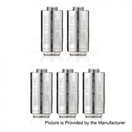 Authentic Innokin Replacement SS316L Coil Head for Slipstream Tank / Kroma Kit - 0.5 Ohm (160~230'C / 320~446'F) (5 PCS)