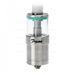 Authentic Fuumy FZ RTA Rebuildable Tank Atomizer - Silver, Stainless Steel + Glass, 3.5mL, 24mm Diameter